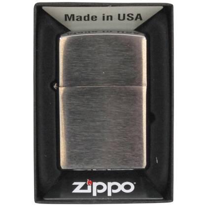 Zippo Geborsteld Chroom