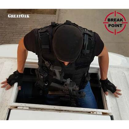 Tactisch holster voor geweren zwart