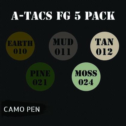 Camo-pen A-tacs FG set