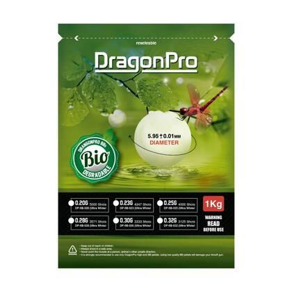 DragonPro Bio BBs zijn gemaakt van PLA.
