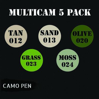 Camo-pen multicam set