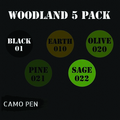 Camo-pen woodland set