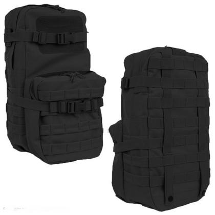 Molle Cargopack zwart van 100% nylon.