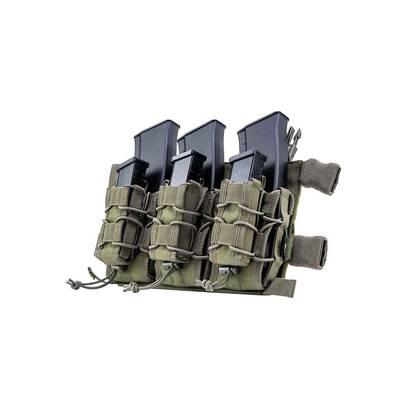 De Viper VX Buckle Up mag rig Groen kan drie geweermagazijnen en drie pistoolmagazijnen bevatten.