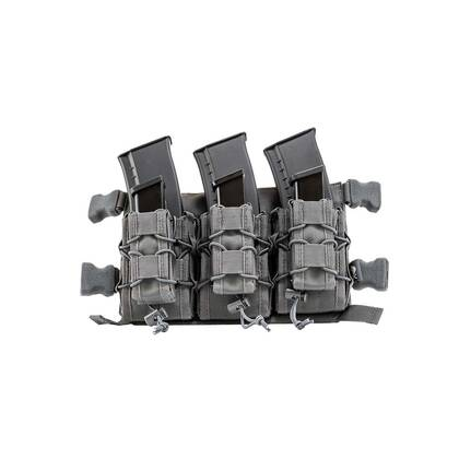 De Viper VX Buckle Up mag rig Titanium kan drie geweermagazijnen en drie pistoolmagazijnen bevatten.