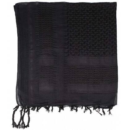 Shemagh zwart van 100% katoen in een mooi formaat van circa 100 bij 100 cm.