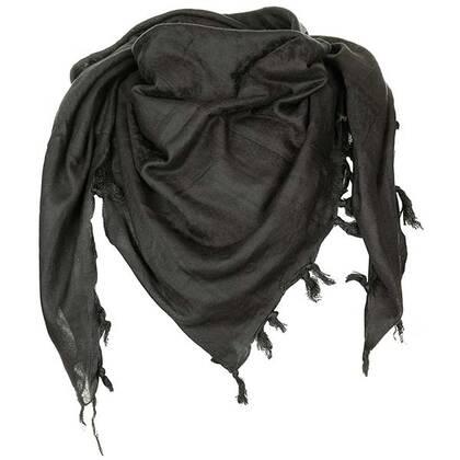 Shemagh supersoft zwart van 100% katoen in een mooi formaat van circa 120 bij 115 cm.