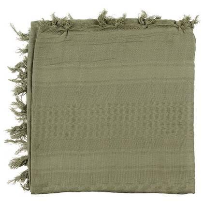 Shemagh supersoft groen van 100% katoen in een mooi formaat van circa 120 bij 115 cm.