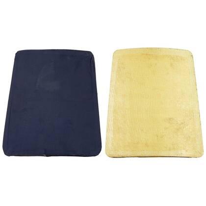 Set van 2 platen, circa 28 x 24 cm. Laag schuim met kevlar platen.