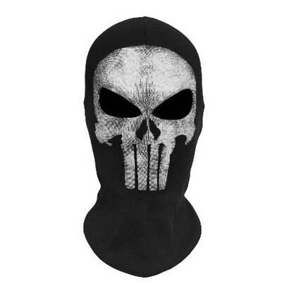 Ben jij een cosplay fanaat en ben jij weg van de Punisher serie, dan mag deze bivakmuts met schedelprint niet ontbreken in je garderobe.