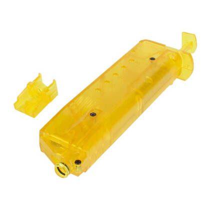 andig en praktisch, deze 100 BB Speedloader Geel past met gemak in een pouch of zak.