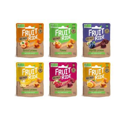 Fruit Ride Proefpaket bevat alle 6 de beschikbare smaken van Fruit Ride. 100% fruit zonder toevoegingen. Cruelty free, vegan en gewoon lekker