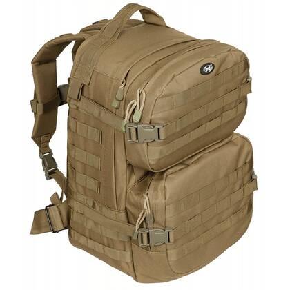 Rugzak Assault II Coyote, een stoere 1 tot 3 daypack met een inhoud van ca 40 liter.