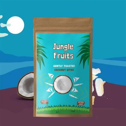 Jungle Fruits kokos bestaat uit heerlijke kokosvlokken die licht zijn geroosterd. Je proeft bijna het paradijs en de romigheid!