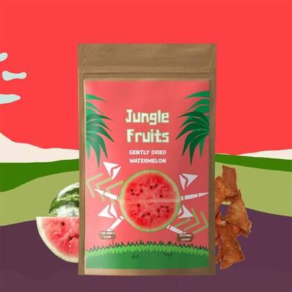 Jungle Fruits Watermeloen is een heerlijke vernieuwe van een geweldige smaak. Vol met vitamines en mineralen maar geen gelek.