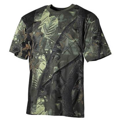 Dit T-shirt van 100% katoen, 170 gram per m2, met Hunter Green camo is een genot om te dragen. Het is naar het US model t-shirt, met halflange mouwen en een ronde kraag.