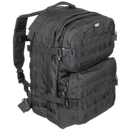 Rugzak Assault II Zwart, een stoere 1 tot 3 daypack met een inhoud van ca 40 liter.