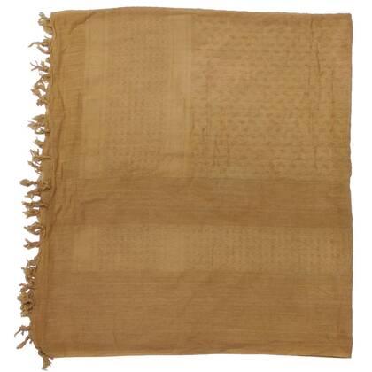 Engelse Shemagh coyote tan (gebruikt) van 100% katoen in een mooi formaat van circa 110 bij 110 cm. Origineel uitrustingsstuk van het Engelse leger.